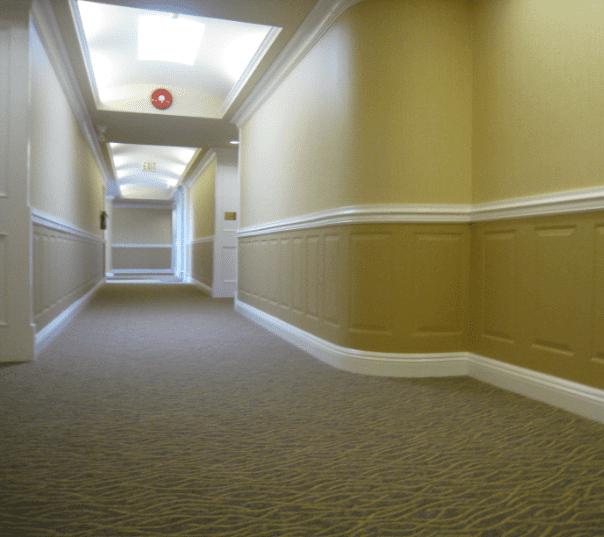 interior painted hallways