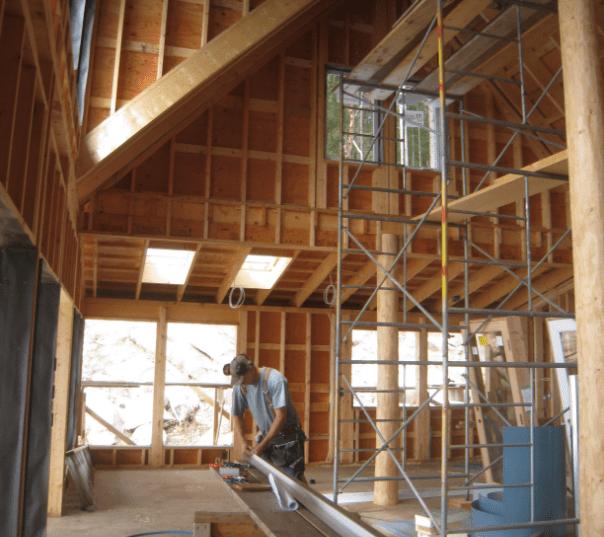 Interior framing and painting